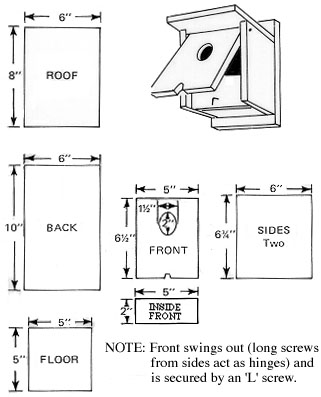 tree swallow birdhouse plans